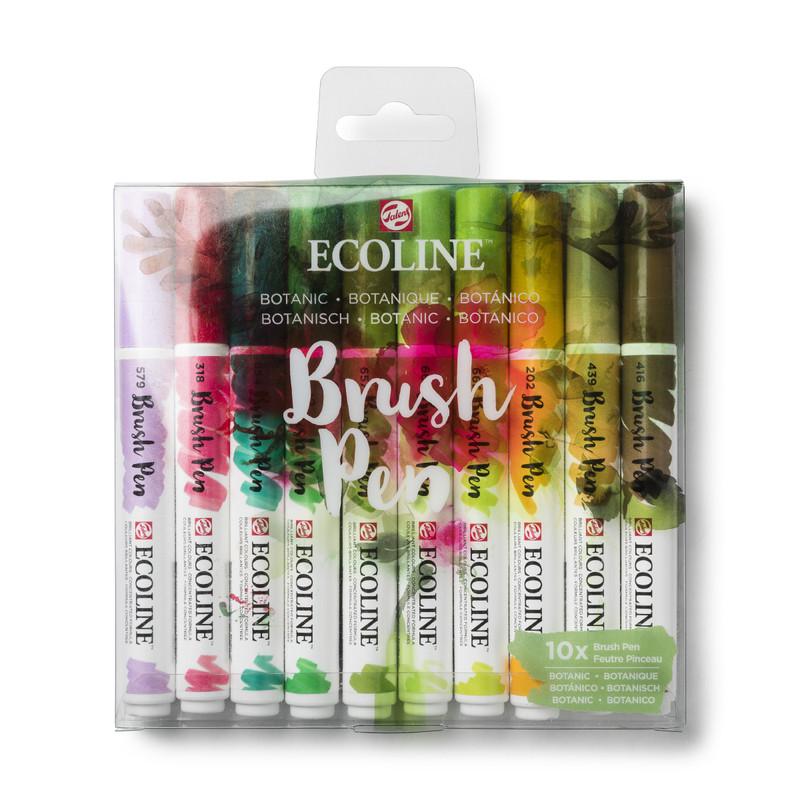 Ecoline brushpennen - botanisch - set van 10