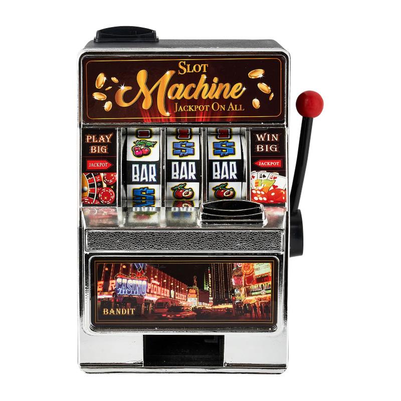 Spaarpot speelautomaat - 19x14x10 cm