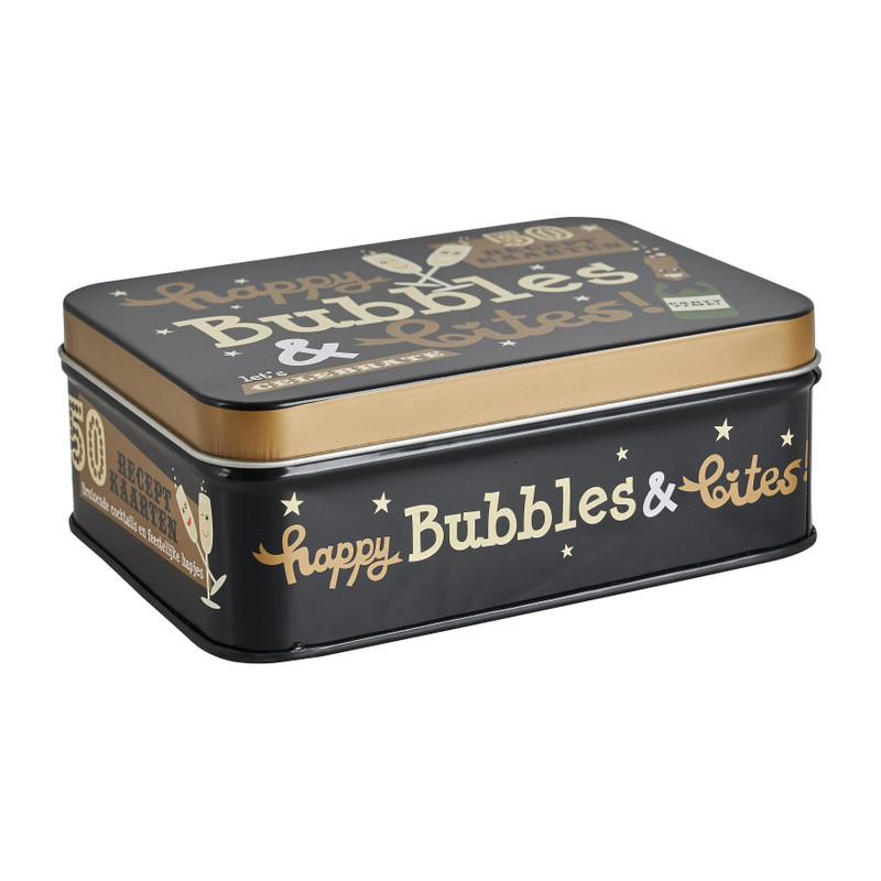 Bubbles & Bites in blik - 50 recept kaarten
