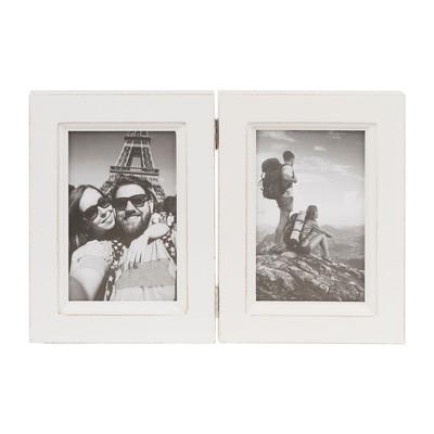 Fotolijst dubbel - 10x15 cm - wit