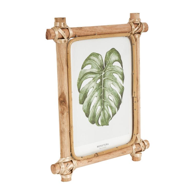 Fotolijst met rotan frame - 13x18 cm
