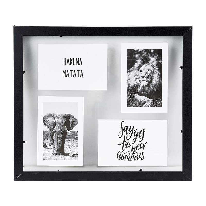 Collagelijst transparant - 40x35 cm