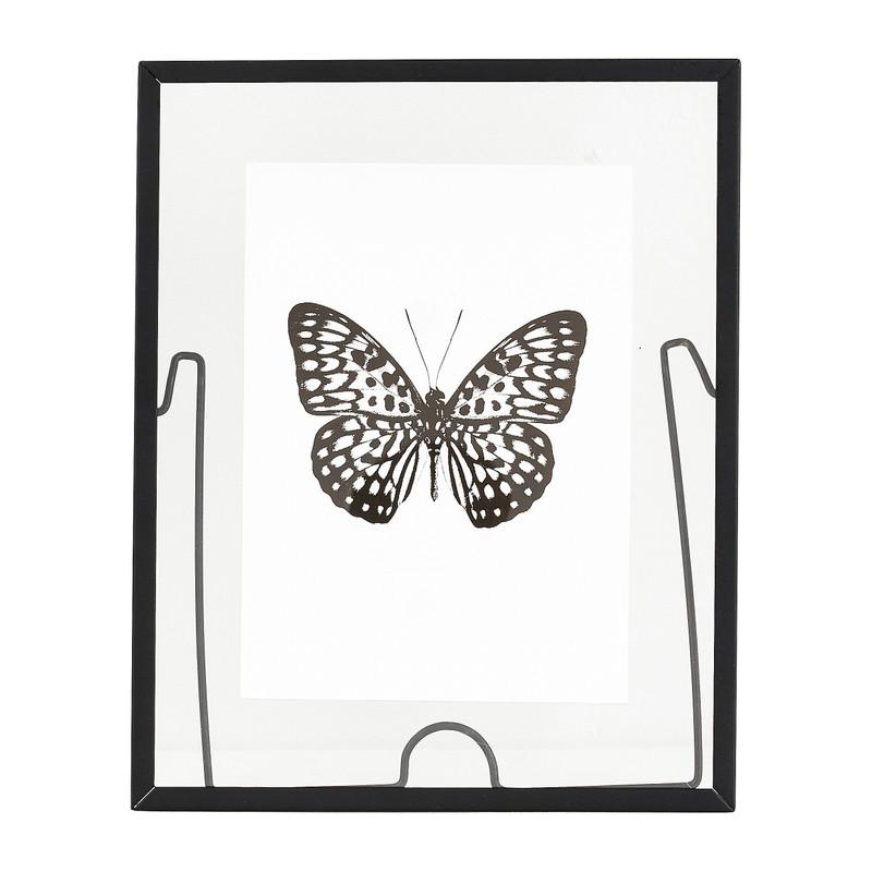 Fotolijst transparant staand - zwart - 25x20 cm