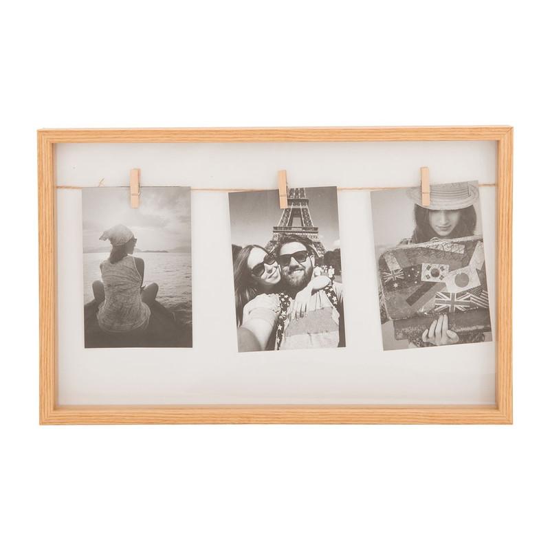 Collagelijst - 3 knijpers - bruin