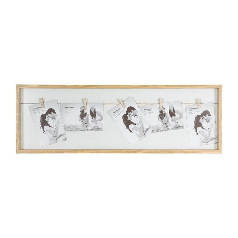 Collagelijst met 5 knijpers- bruin