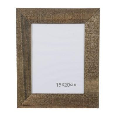 Fotolijst ruw hout - 15x20 cm - bruin