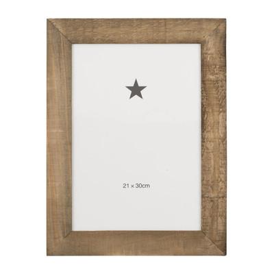 Fotolijst ruw hout - 21x30 cm - bruin
