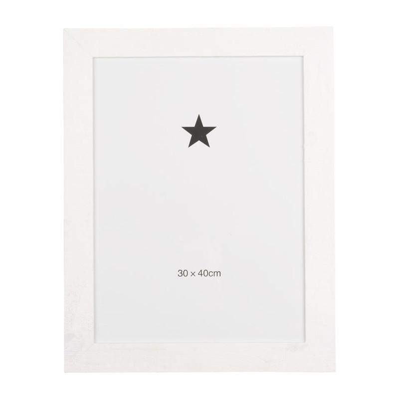 Witte Houten Fotolijst.Fotolijst Ruw Hout 30x40 Cm Wit Xenos