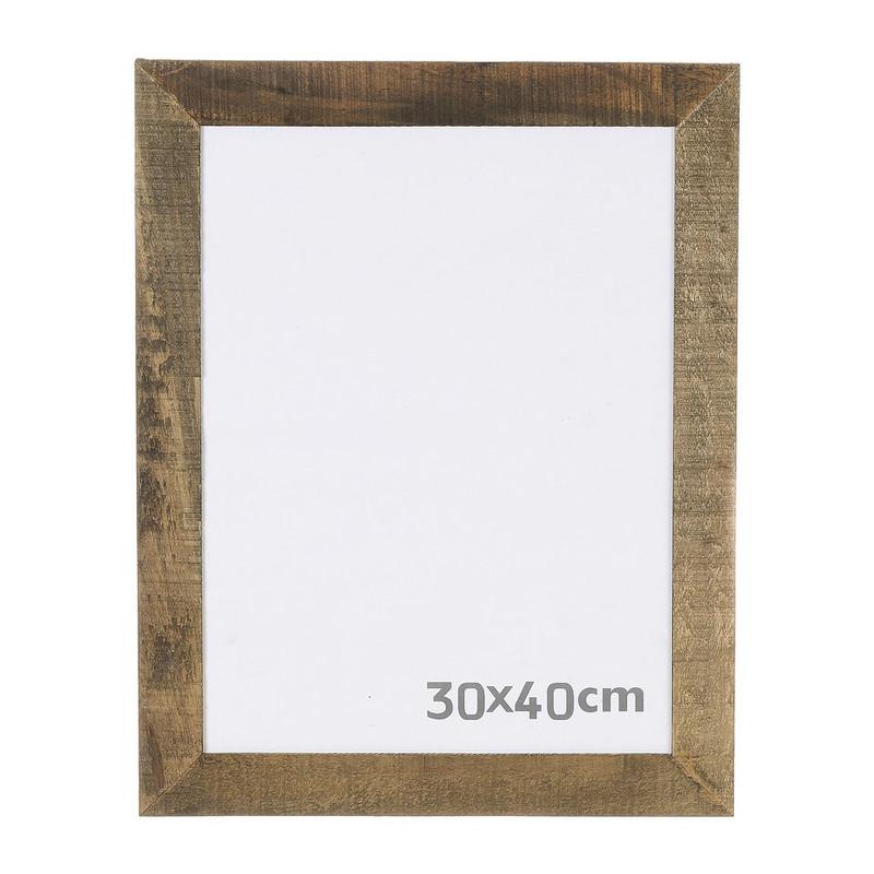 Grote Houten Fotolijst.Fotolijst Ruw Hout 30x40 Cm Bruin