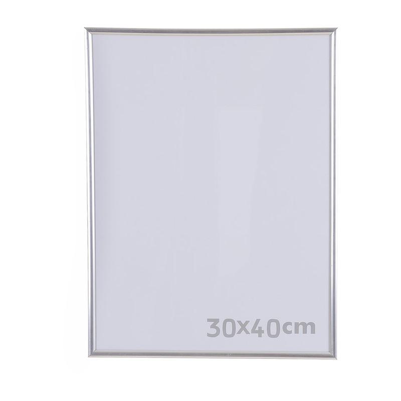 Fotolijst kunststof - 30x40 cm - zilverkleurig