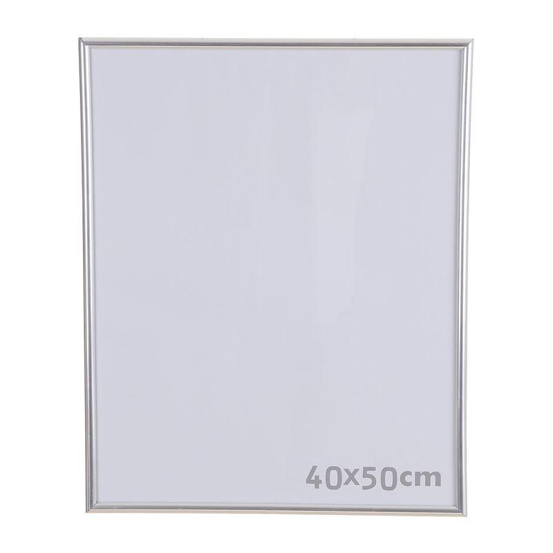 Fotolijst kunststof - 40x50 cm - zilverkleurig