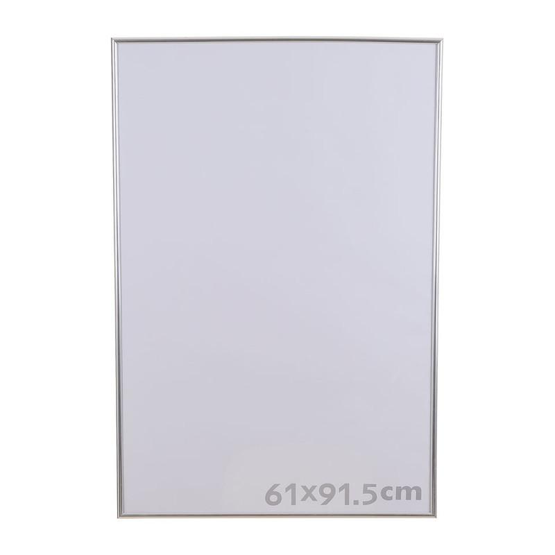 Fotolijst kunststof - 61x91.5 cm - zilverkleurig