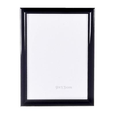 Fotolijst kunststof - 9x13 cm - zwart