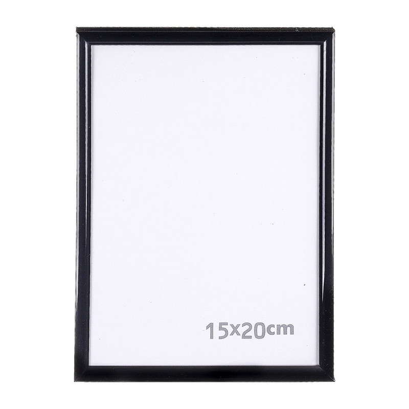 Fotolijst kunststof zwart 15x20 cm
