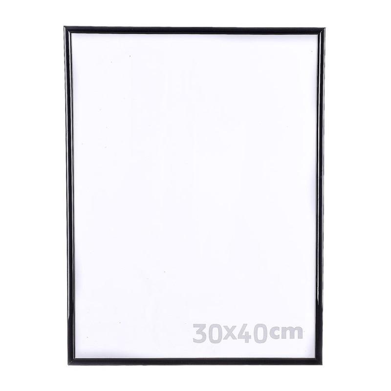 Fotolijst kunststof - 30x40 cm - zwart