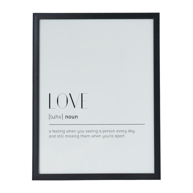 Fotolijst basic - 30x40 cm - zwart