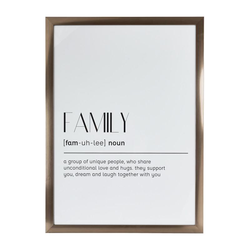 Fotolijst basic - 50x70 cm - zilverkleurig