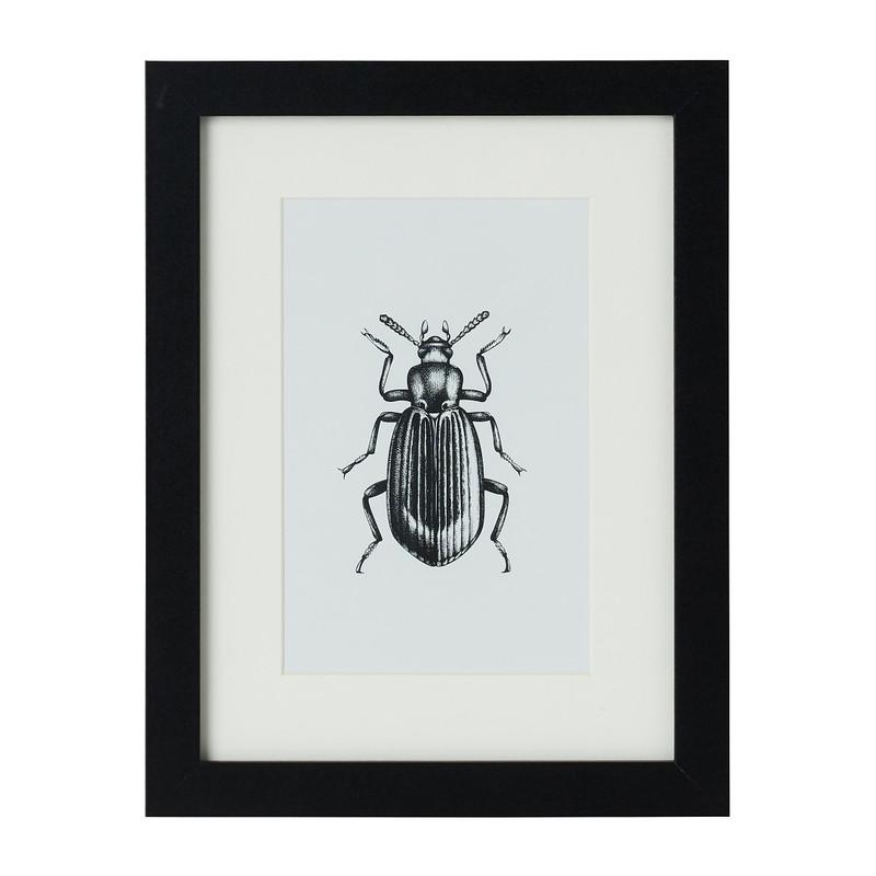 Fotolijst met passe partout - zwart - 10x15 cm