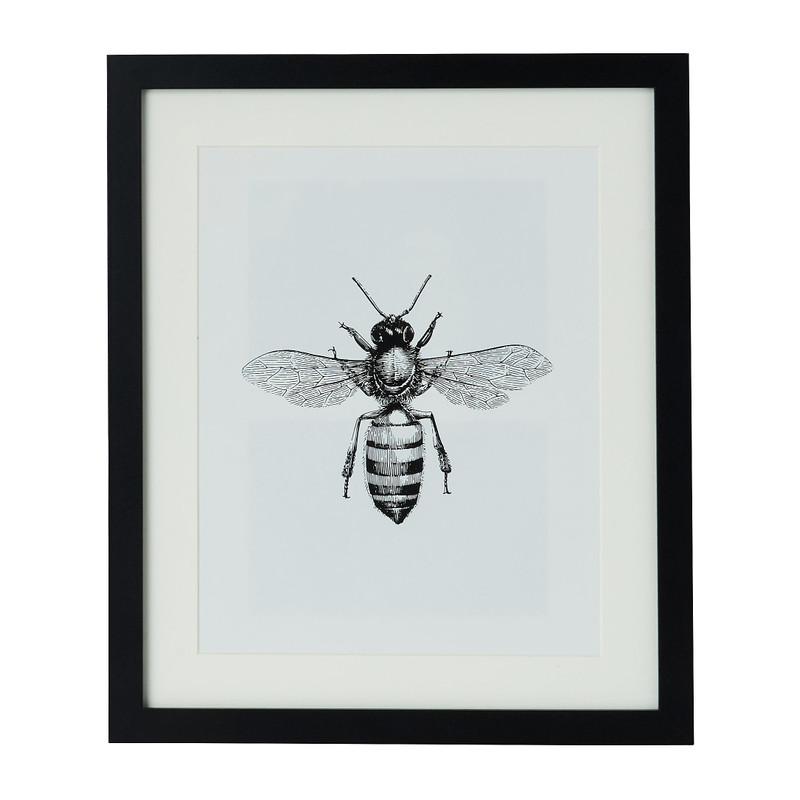 Fotolijst met passe partout - zwart - 20x25 cm