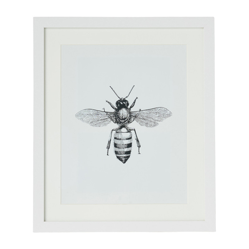 Fotolijst met passe partout - wit - 20x25 cm