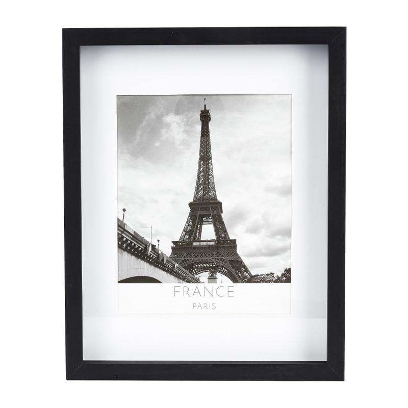 Fotolijst 3D met passe partout - zwart - 20x25 cm