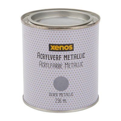 Metallic verf - zilver - 236 ml