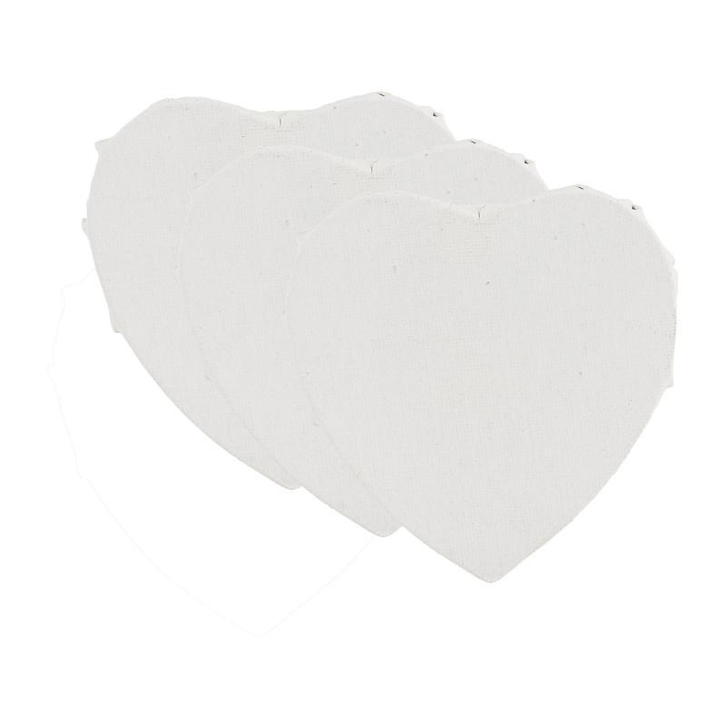 Schildersdoek hart - set van 3 - 10 cm kopen