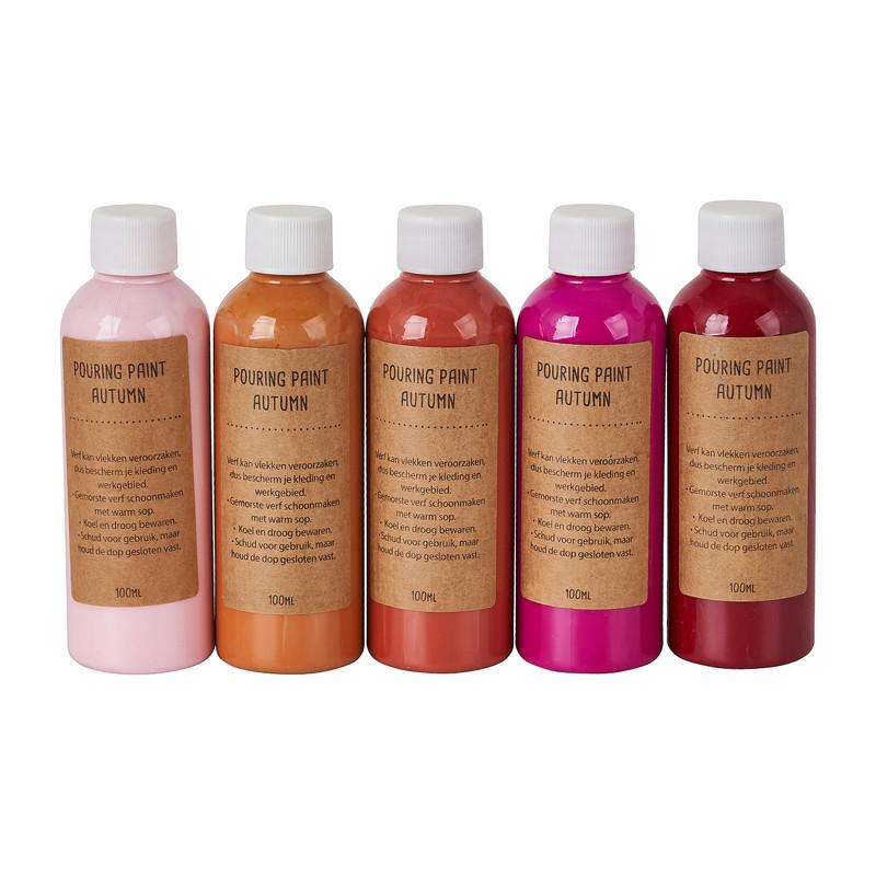 Pouring paint autumn - set van 5 - 100 ml