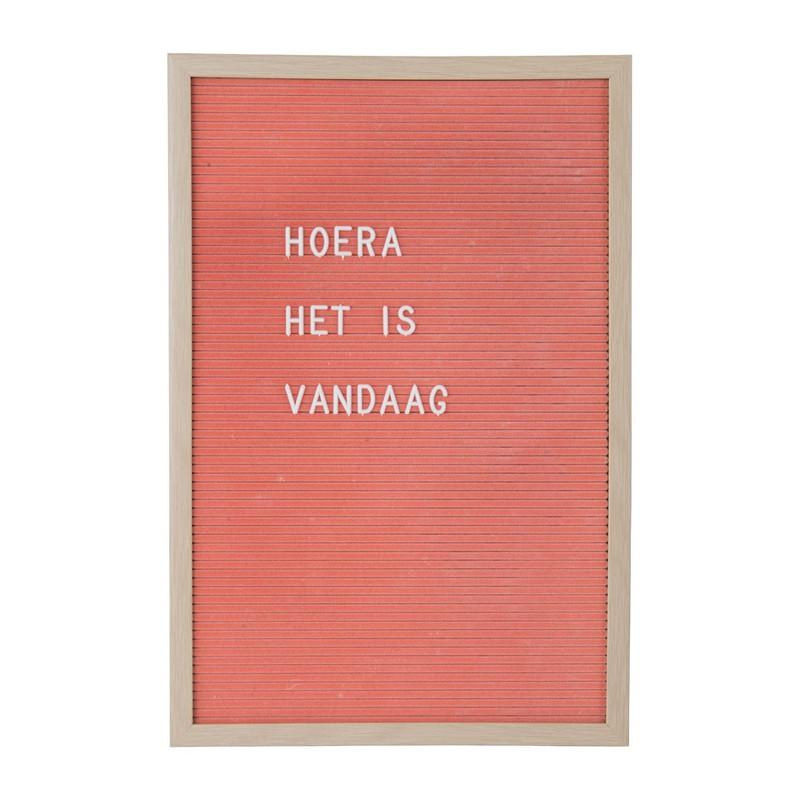Letterbord - roze - 45x30 cm
