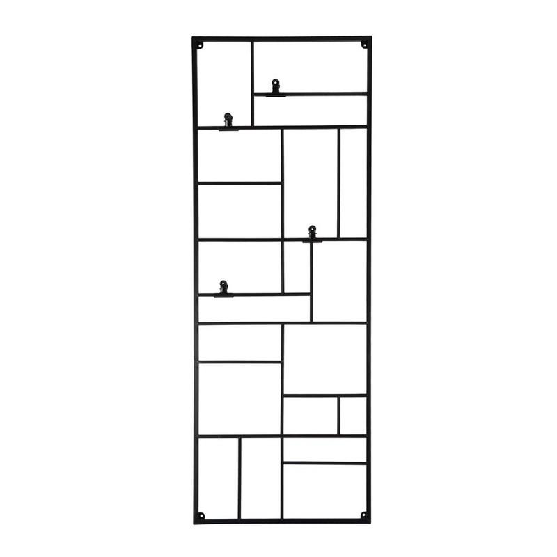 Wandrek XXL met clips - 55x150 cm - zwart