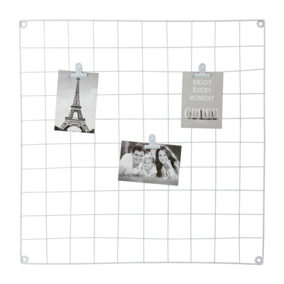 Wandrekje Square met clips - 60x60 cm - wit