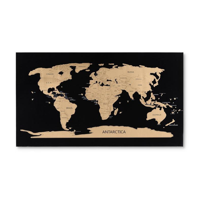 World scratch map - 80x45 cm