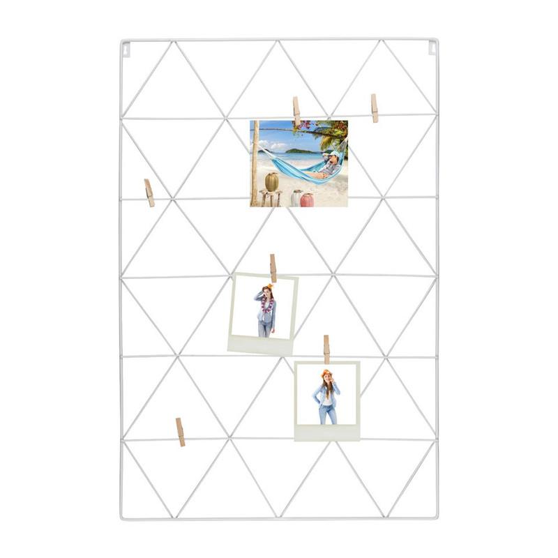 Wandrek met clips - 50x75 cm - wit