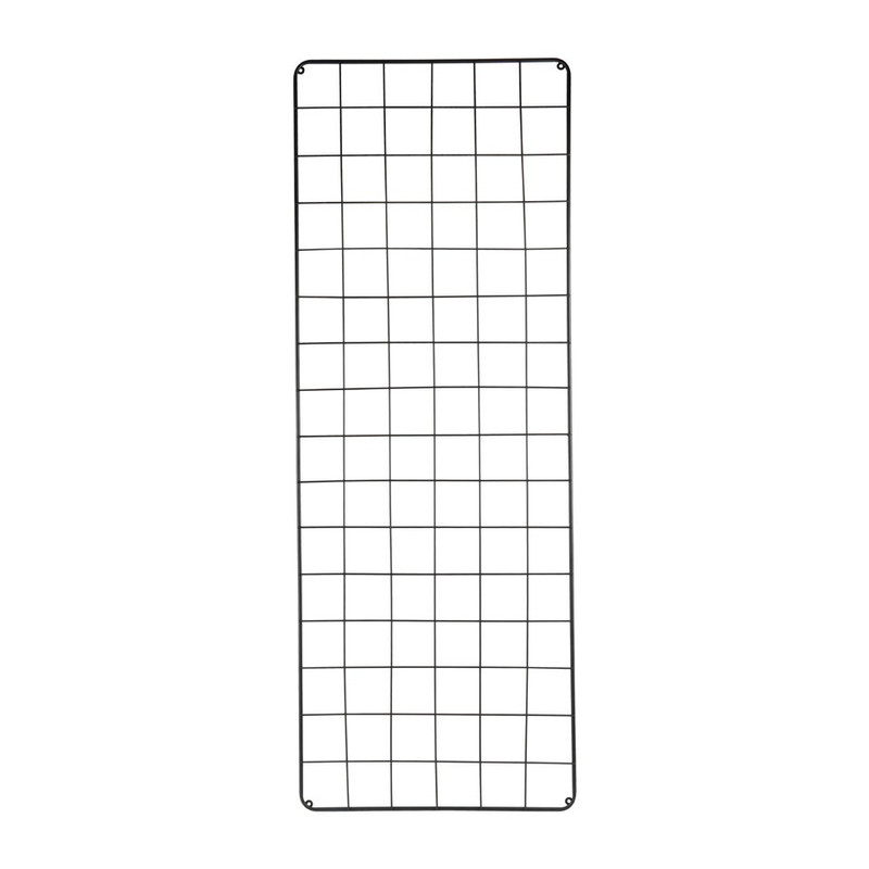 Wandrek metaal - 150x55 cm - zwart