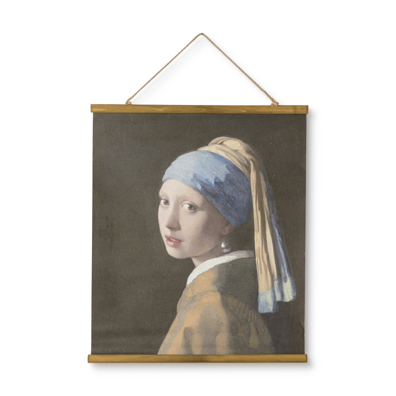Poster meisje met parel - multikleur- 50x70 cm