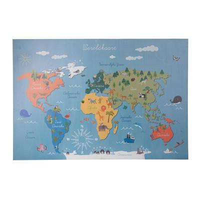 Worldmap op hout - kids
