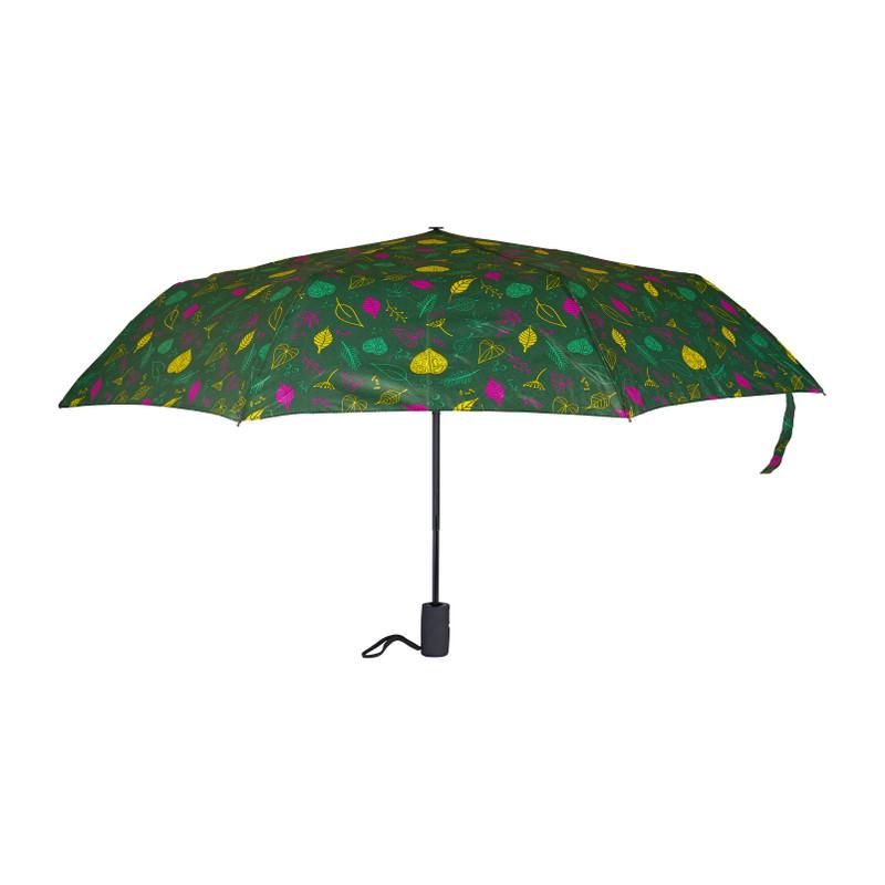 Paraplu groen met print - opvouwbaar