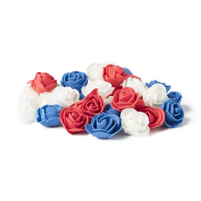 Foam roosjes diverse kleuren set van 100
