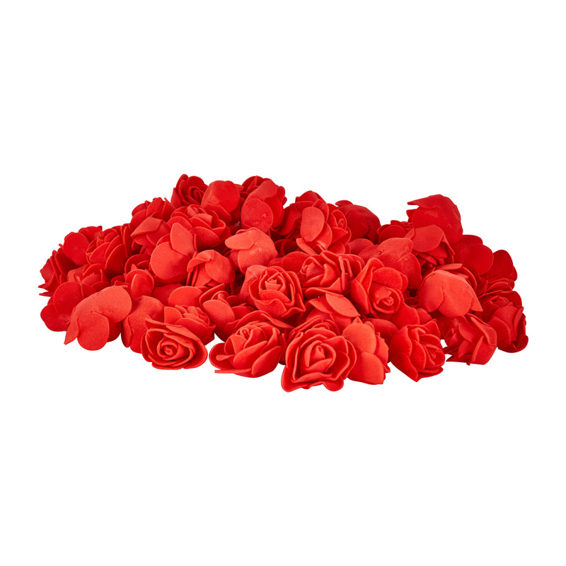 Foam roosjes rood - set van 100