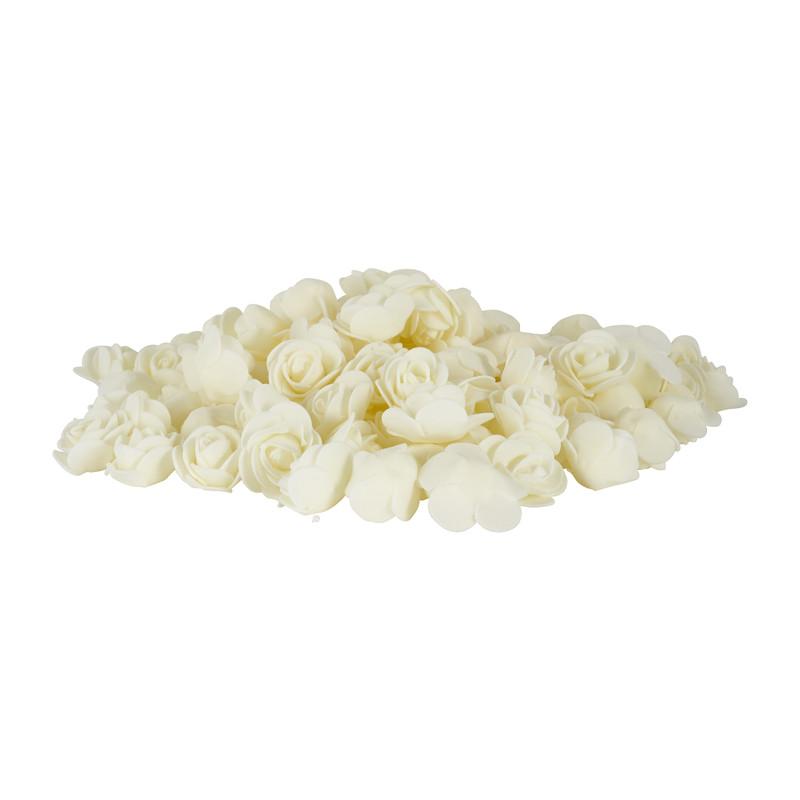 Foam roosjes wit - set van 100