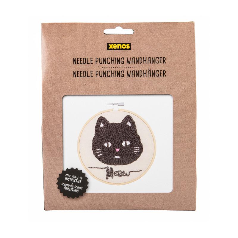 Needlepunching set wandhanger - kat