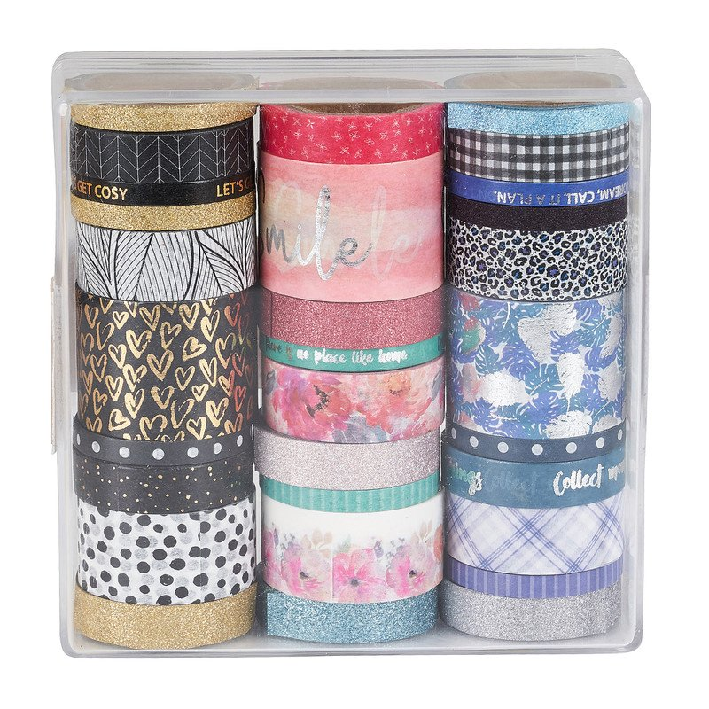 Washi tape in box - set van 30