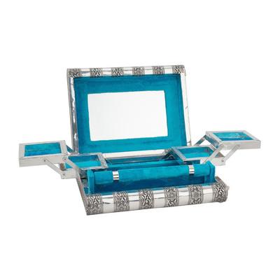 Bijouteriedoos India - 28x20 cm - blauw