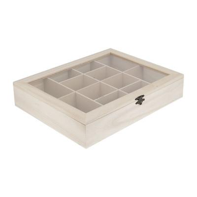 Opbergbox 12 vakjes - 23x29x5.5 cm