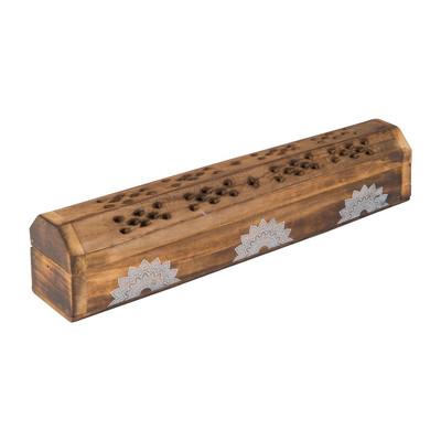 Wierookdoos/brander mandala - hout