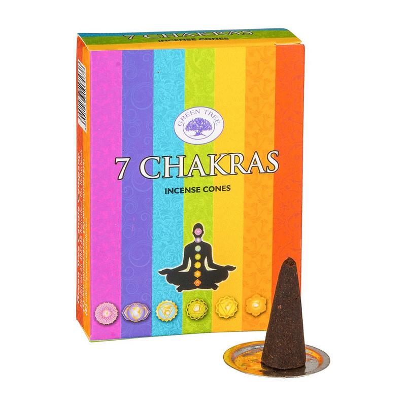 Wierookkegeltjes7 Chakras - 10 stuks