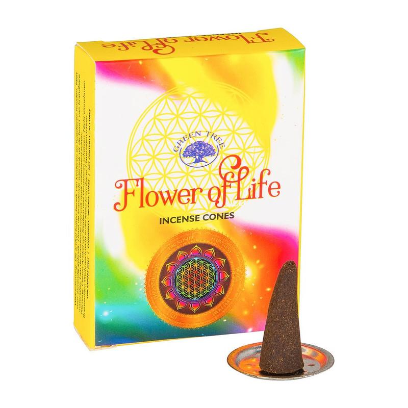 Wierookkegeltjes Flower Of Life - 10 stuks