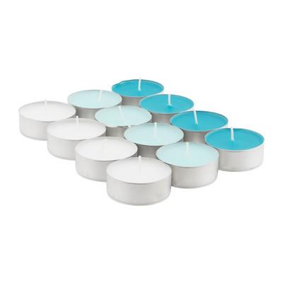 Maxi-theelichten cotton - 9 branduren - 12 stuks