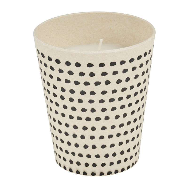 Kaars in bamboe cup - 9,5x8 cm