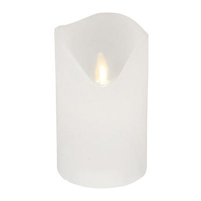 LEDkaars met bewegende vlam - wit - 7.5x12 cm